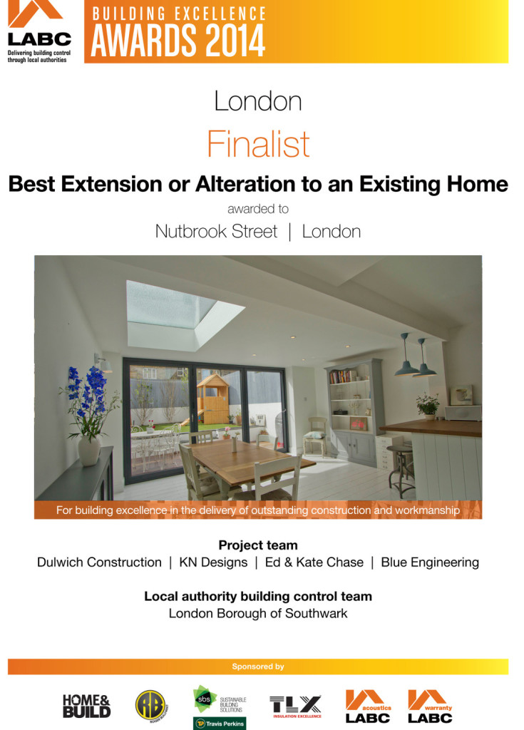 LABC Finalist - Nutbrook Street Extension