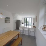 Interior view of extension with dining room & kitchen